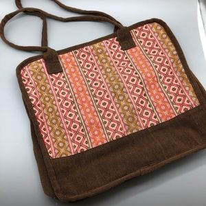 Novica handmade tribal pattern woven shoulder bag